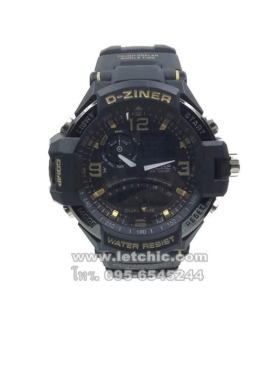 นาฬิกา D-Ziner Sport watch รุ่น DZ-8067A นาฬิกาข้อมือ unisex สีทองดำ ของแท้ รับประกันศูนย์ 1 ปี ราคาพิเศษ ราคาถูกที่สุด