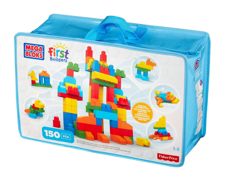 Mega Bloks First Builders Deluxe Building Bag ตัวต่อเสริมสร้างจินตนาการ จำนวน 150 ชิ้น