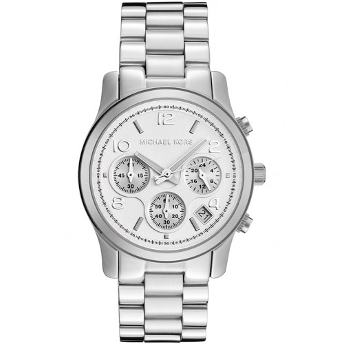 5adcd90d96b3 MICHAEL KORS Silver Midsized Chronograph Ladies Watch MK5076 ...