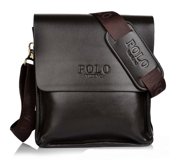 กระเป๋าสะพายข้างหนังพียู Polo 3012
