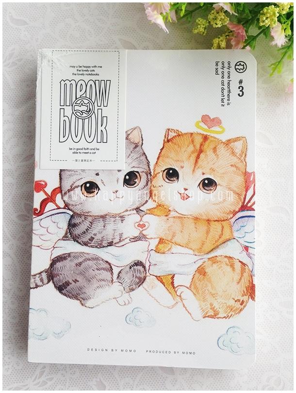 สมุดโน้ต MEOW BOOK ขนาด A5 : ลูกแมวน้อย 2 ตัว