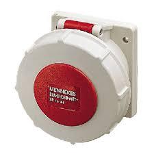 ปลั๊กตัวเมียติดผนัง มาตรฐาน CEE แบบตรง ชนิกกันน้ำ (สำหรับตู้คอนเทนเนอร์) IP67 32Amp 4 ขั้ว 380 - 440 V