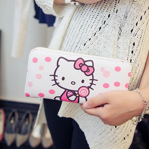 [Preorder] กระเป๋าสตางค์แบบยาว Hello Kitty (Kitty kitty change bag holding wild card Wallet)
