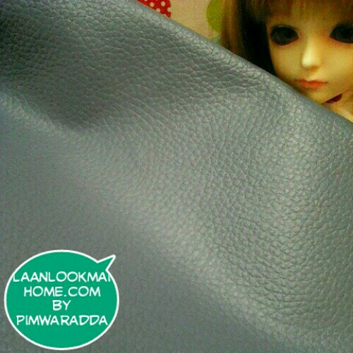LH18 : ผ้าหนังสีฟ้าอมเทาแบ่งขาย 1 หน่วย = ขนาด1/4 หลา : 45X 65 cm
