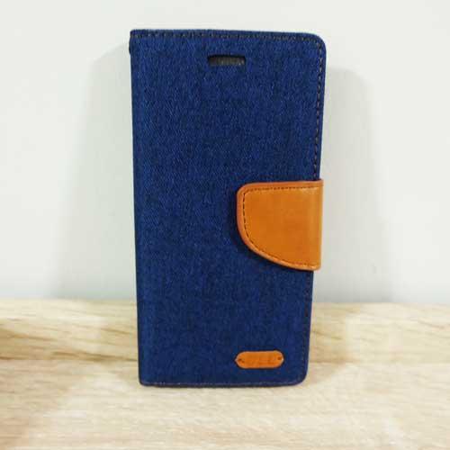เคสไอโฟน 7plus/7Splus แบบฝาพับ สีน้ำเงิน