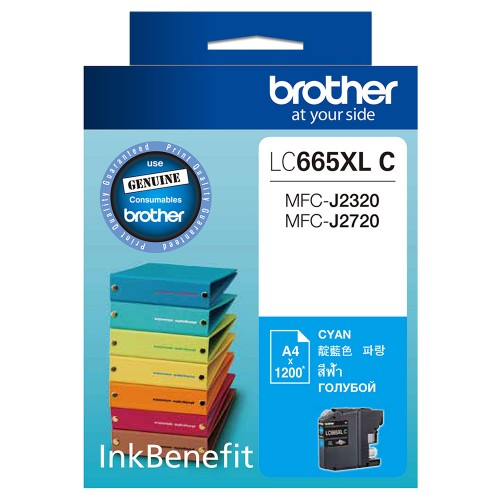 BROTHER INK CARTRIDGE LC-665XLC สีฟ้า
