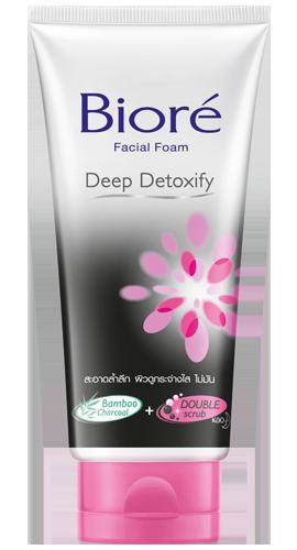 Biore Facial Foam Deep Detoxify (บิโอเร เฟเชี่ยล โฟม ดีพ ดีท็อกซิฟาย)