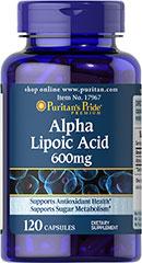 Puritan's Pride - Alpha Lipoic Acid 600 mg 120 Capsules
