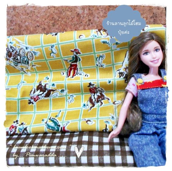 OCT57Pack2 : ผ้าจัดเซตคู่ ผ้าอเมริกา+ ผ้าจากตลาดไทย ขนาดผ้าแต่ละชิ้น 25-27 X 45cm