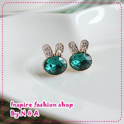 ตุ้มหูกระต่ายน้อย Korea retro, love ornaments discipline genuine cute rabbit earrings earrings female jewelry imitate allergy