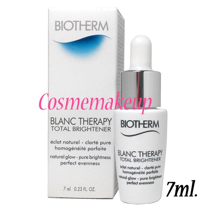 ไบโอเธิรม์ BIOTHERM Blanc Therapy Total Brightener 7 ml ซีรั่มดูแลผิวหน้า มอบความขาวกระจ่างใส และความเปล่งปลั่งอย่างเป็นธรรมชาติให้แก่ผิว ให้คุณหมดกังวลกับปัญหาสีผิวนานาประการ ไม่ว่าจะเป็นปัญหาผิวหมองคล้ำ ผิวไม่สดใส รอยแดง และจุดด่างดำต่างๆ ในหนึ่งเดียว