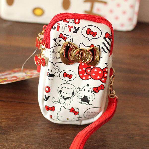 พร้อมส่งค่ะ Sanrio Hello Kitty double zipper pouch