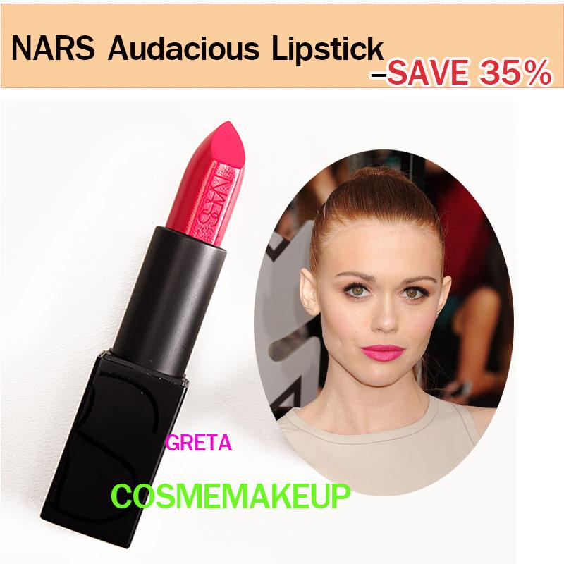 ลด35% เครื่องสำอาง NARS Audacious Lipstick สี GRETA ลิปนาร์สสูตรใหม่ limted SEMI - MATTE ให้ผลลัพธ์ที่แบบเรียบ-ติดทน-บำรุง-อวบอิ่ม