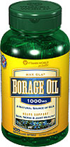Vitamin World - Borage Oil 1000 mg 100 Softgels
