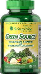 Puritan's Pride - Green Source® Multivitamin & Minerals 120 Caplets