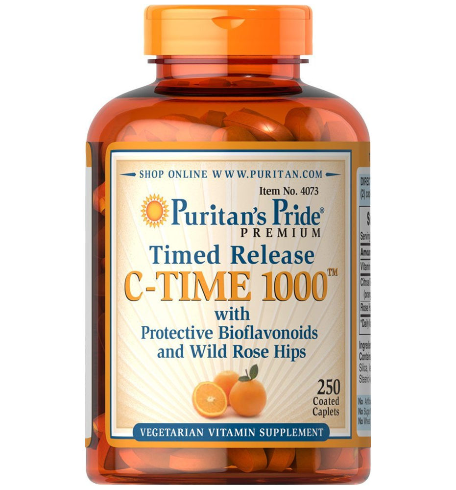 Puritan's Pride Vitamin C-1000 mg with Rose Hips Timed Release / 250 Caplets