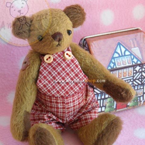 ตุ๊กตาหมีผ้าขนสั้นสีน้ำตาลขนาด 13 cm. - Cracker Boy
