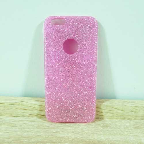 เคสไอโฟน 4/4s เคสกากเพชร สีชมพู
