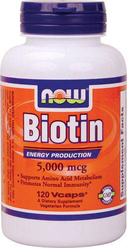 Now Foods - Biotin 5000 mcg 120 V Capsules สำเนา
