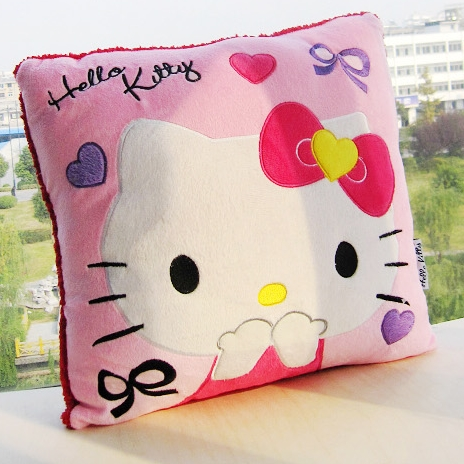 [Preorder] หมอนอิง Hello Kitty สีชมพู (2 ใบ/1 แพ็ค) Hello kitty cute kitty pillow nap pillow cushions creative office couple girls gifts