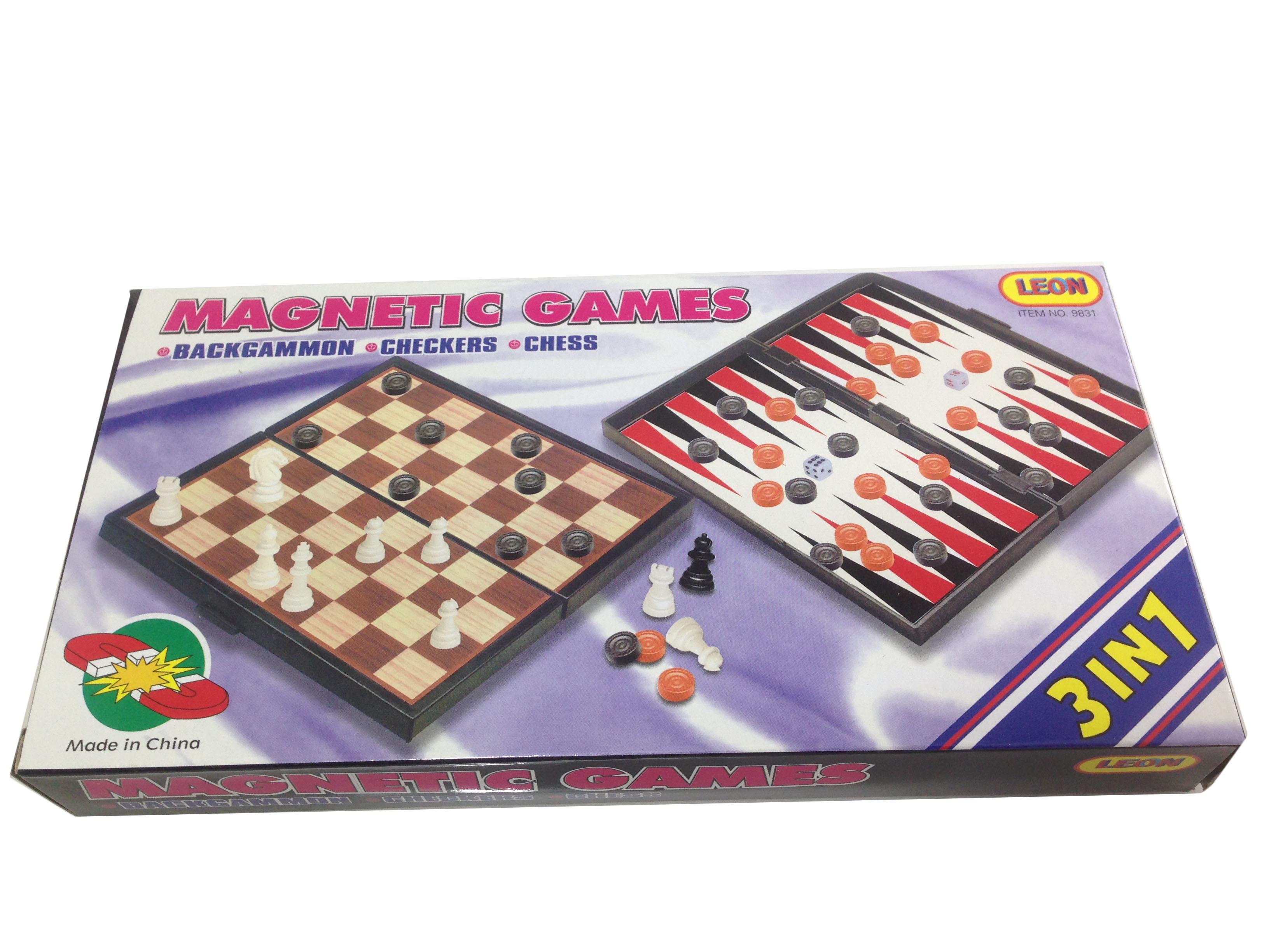เกม 3 In1 หมากรุกสากล หมากฮอสและแบล็กเกมม่อน