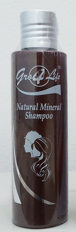 Pro4Life - Gro4Life Natural Mineral Shampoo 180mL แชมพูผสมแร่ธาตุทะลน้ำลึก ลดปัญหาผมร่วง รังแค หนังศีรษะมันวาว