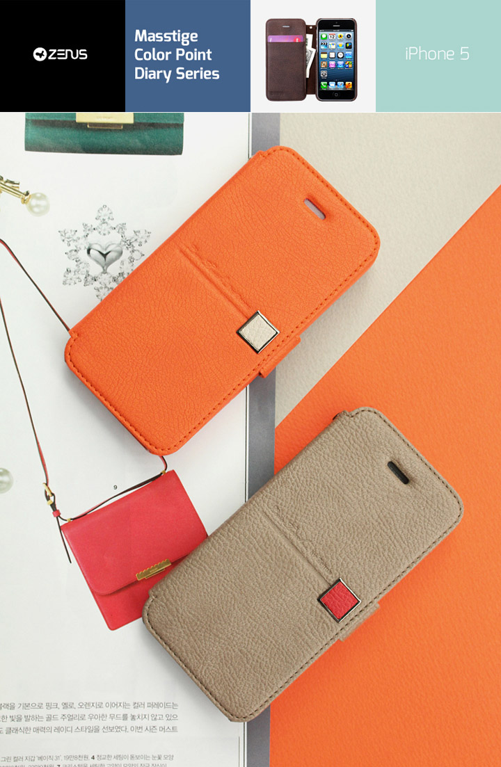 Zenus Masstige Color Point Diary Series Wallet Cover Case For Apple iPhone 5 สำเนา