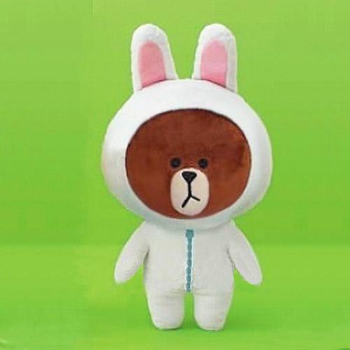 ตุ๊กตาline Brown หมีบราวใส่ชุดกระต่ายโคนี่ ขนาด 40 cm.