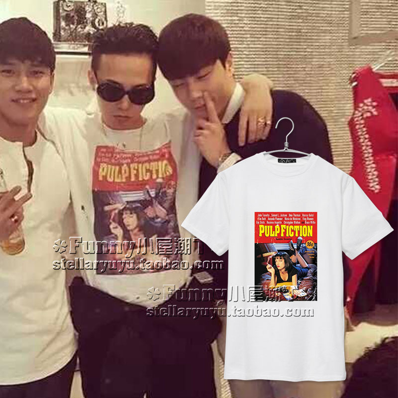 เสื้อยืด G-Dragon PULP FICTION -ระบุไซต์-