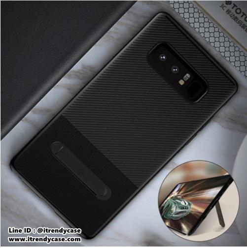 Samsung Note8 - เคส TPU ลายเคฟล่า Premium Carbon + หนัง PU พร้อมขาตั้ง TOTU DESIGN แท้