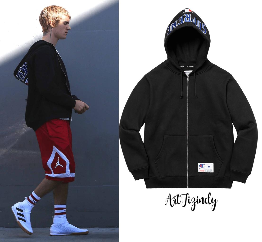 Jacket Hoodie Supreme x Champion Arc Logo Zip Up-ระบุสี/ไซต์-