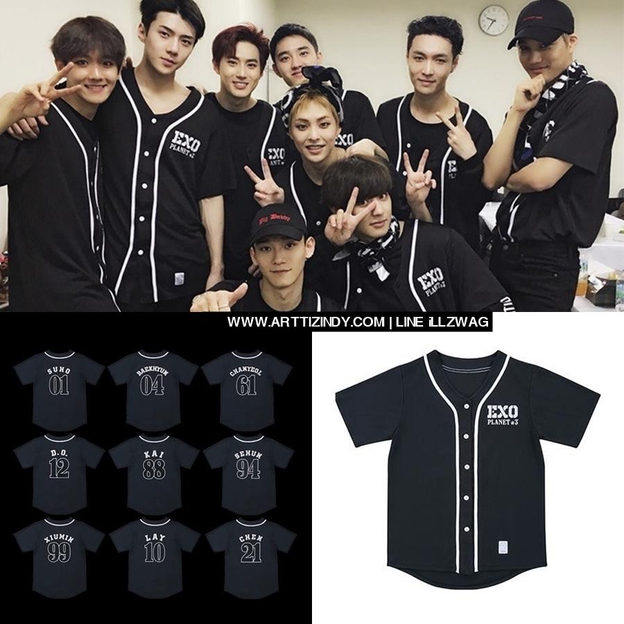 เสื้อเบสบอล EXO PLANET#3 The EXO'rDIUM IN JAPAN -ระบุสมาชิก/ไซต์-