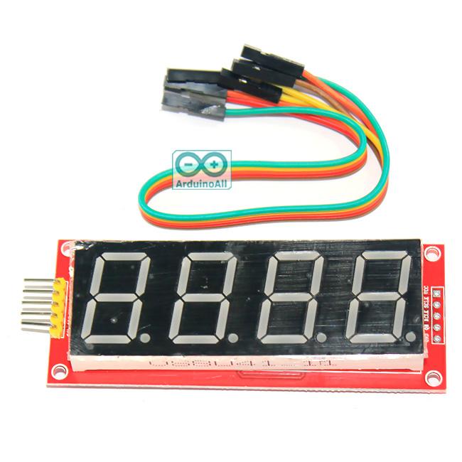 """โมดูลแสดงค่าตัวเลข 4 หลัก Four digital tube module LED display ขนาด 0.80"""""""