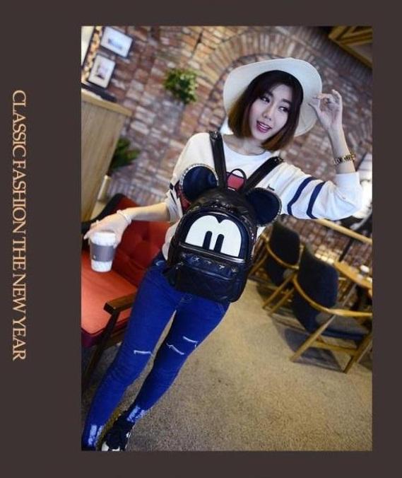 กระเป๋าเป้สะพายหลัง หูมิกกี้ น่ารักสุด ๆ จากเกาหลี