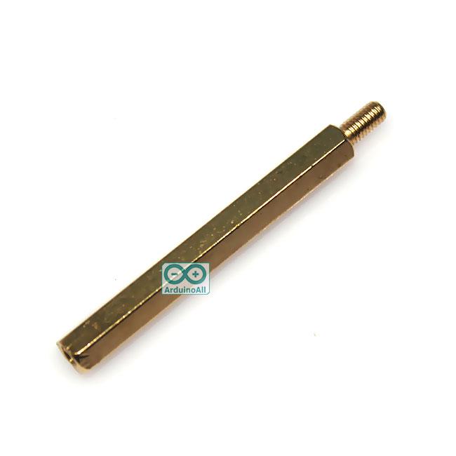 Pillars Nut M3 น็อต ทองเหลืองแบบยาว 46mm 40+6mm