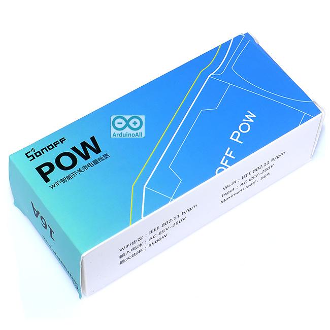 Sonoff POW 16A สวิตช์ Wi-Fi ควบคุมเปิด/ปิดไฟ 220V กระแสสูงสุด 16A พร้อมวัดพลังงานไฟฟ้าที่ใช้งานผ่านมือถือ Smart Switch Sonoff POW
