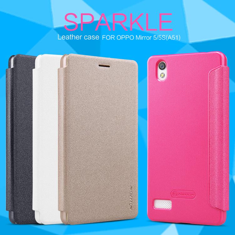 OPPO Mirror5 - เคสฝาพับ Nillkin Sparkle leather case แท้