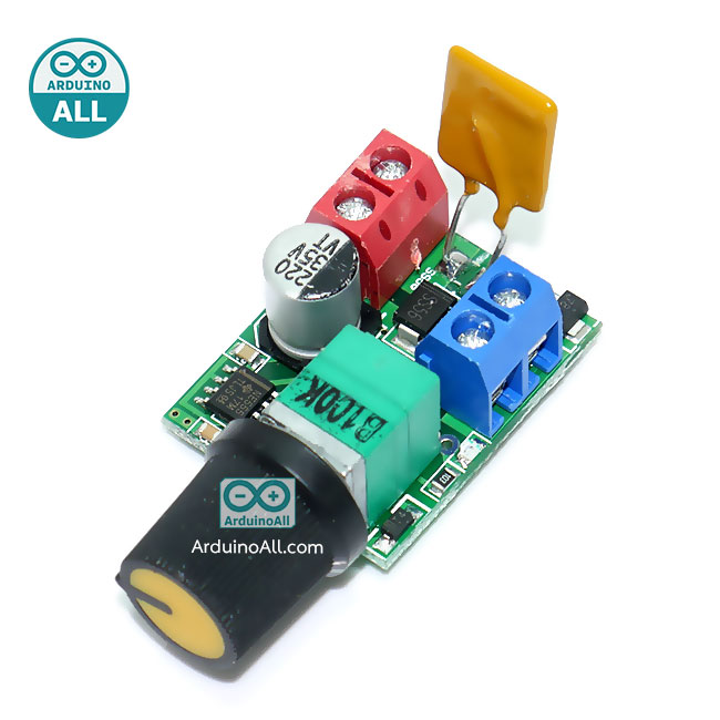 Mini DC motor PWM generator 5-30V speed switch ultra small LED dimmer 5A 90W
