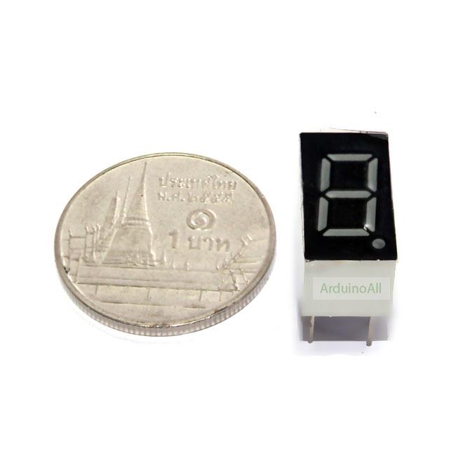 "7 Segment 0.36"" Common Cathode 1digit Red ไฟ 7 segment 0.36"" 1 หลัก สีแดงแบบไฟลบร่วม 3161A/3361A"