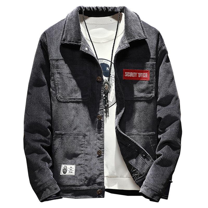 *Pre Order*Winter new jacket men's casual corduroy แฟชั่นญี่ปุ่น size M-5XL