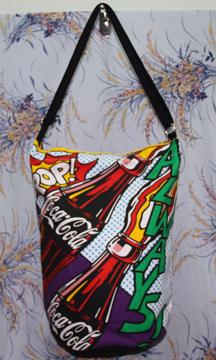 กระเป๋าผ้าcanvas สกรีนลาย coca cola