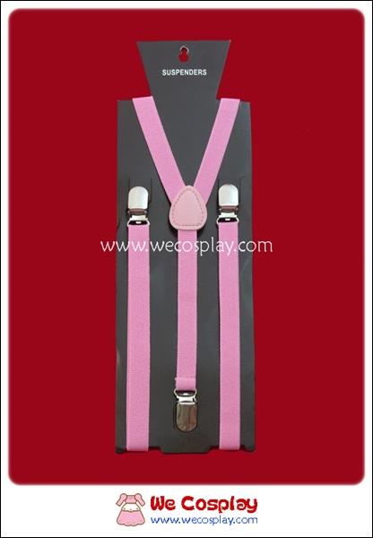 สายเอี๊ยม สีชมพู Pink Suspenders