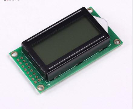 08x02 8x2 Black Character Dot Matrix LCD Display Module Grey Backlight Parallel Port for Arduino
