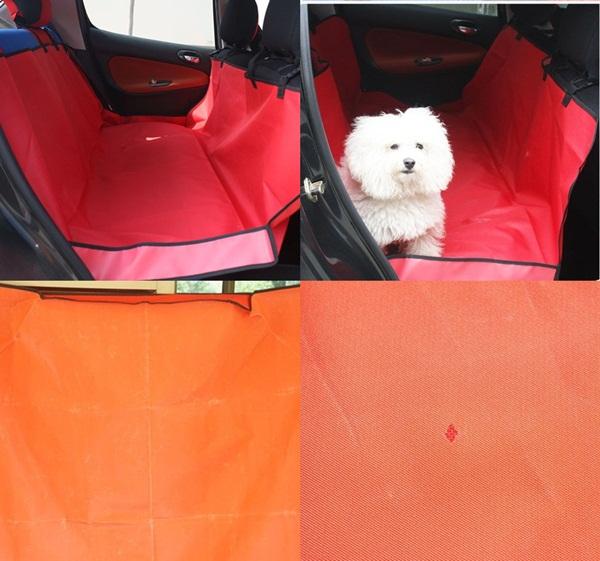 ที่คลุมเบาะรถยนต์แบบคลุมเบาะหลังสีแดง (สินค้าหลุด QC / ดูรูป)