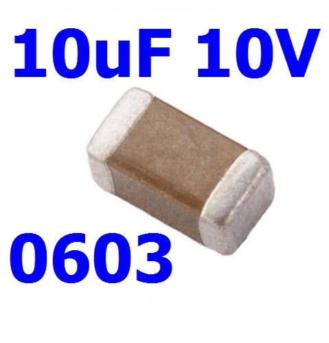 10uF 10V, SMD 0603(1608)