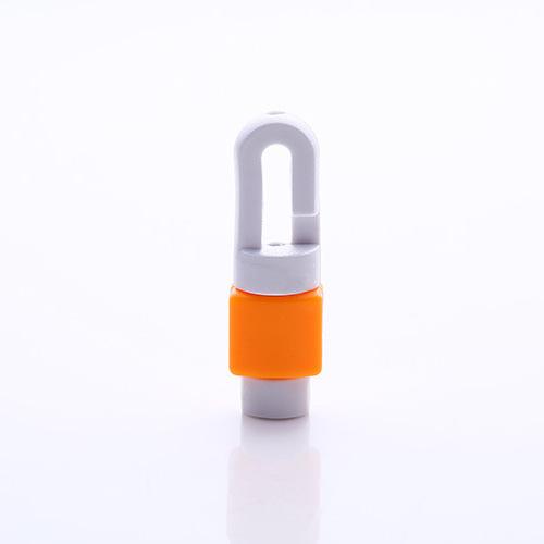 อุปกรณ์ถนอมสายหูฟังโทรศัพท์มือถือ สีส้ม