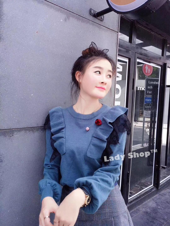 เสื้อเกาหลี พร้อมส่ง เสื้อเกาหลี ทรงแขนพอง