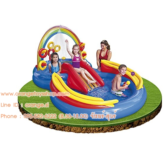"""สวนน้ำ Intex Rainbow Ring Inflatable Play Center, 117"""" X 76"""" X 53"""""""