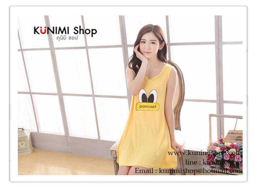 ชุดนอน ชุดนอนกระโปรง สวยหวาน มี 3 สี สีชมพู สีแดง สีเหลือง ขนาดชุด Free Size : ความยาวชุด 81 cm. / รอบอกไม่เกิน 36 นิ้ว สะโพกขยายไม่เกิน 40 นิ้ว