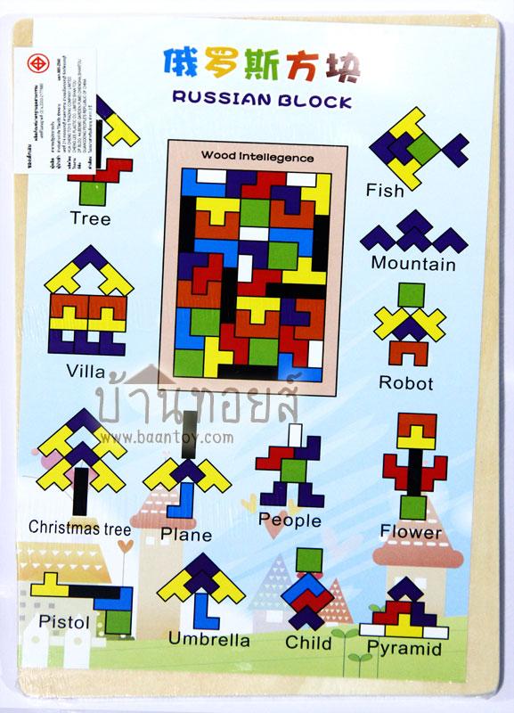 ถาดบล็อคไม้ เททริส [Tetris] ประกอบไปด้วยบล็อคไม้รูปทรงเกม เททริส [Tetris] จำนวน 40 ชิ้นในถาดไม้ สีสันสดใส สำหรับเล่นต่อภาพตามจินตนาการ หรือเล่นจัดเรียงรูปทรงในถาดไม้